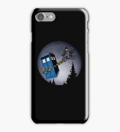 Fourth Doctor Fly With Bicycle iPhone Case/Skin