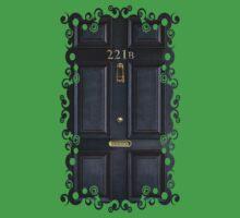 Black Door with 221b number One Piece - Short Sleeve