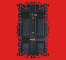Black Door with 221b number One Piece - Long Sleeve