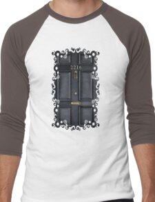 Black Door with 221b number Men's Baseball ¾ T-Shirt