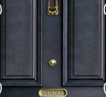 Black Door with 221b number Sticker