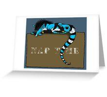 Nap Time Dragon Greeting Card