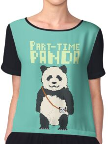 8-bit part-time panda Chiffon Top