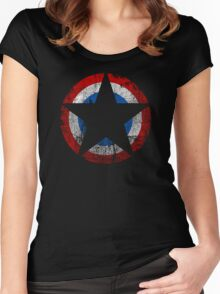 Patriot - Distressed Star Women's Fitted Scoop T-Shirt