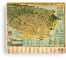 Vintage Map San Francisco Canvas Print
