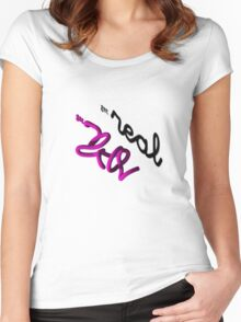 Get real Women's Fitted Scoop T-Shirt