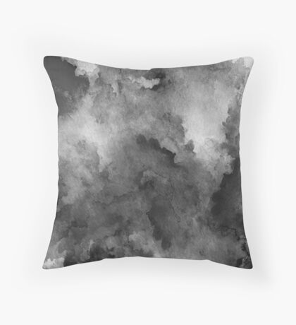 ink style of black watercolour texture Throw Pillow