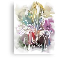 brunch of abstract stylized flowers illustration  Canvas Print