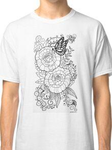 Peony Tattoo Design Classic T-Shirt