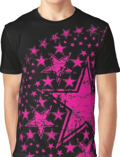 Hot Pink Stars Graphic T-Shirt