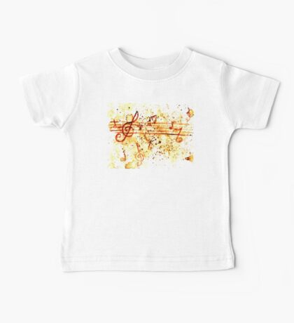 Music Notes Baby Tee