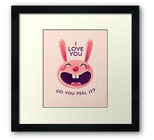 Bunny with love Framed Print