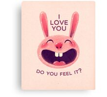 Bunny with love Canvas Print