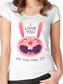 Bunny with love Women's Fitted Scoop T-Shirt
