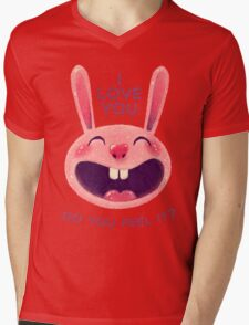 Bunny with love Mens V-Neck T-Shirt