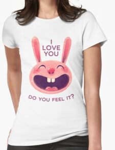 Bunny with love Womens Fitted T-Shirt
