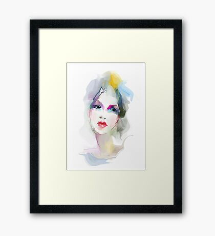 Young woman portrait  Framed Print