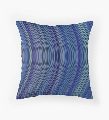 curve ribbon pattern blue Throw Pillow