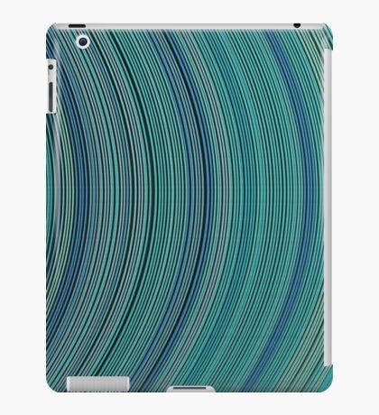 curve ribbon pattern light blue iPad Case/Skin