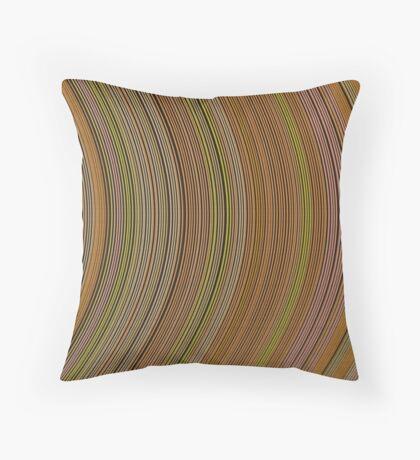 curve ribbon pattern yellow Throw Pillow