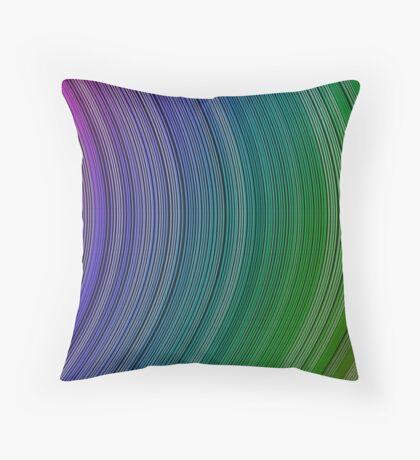 curve ribbon pattern rainbow Throw Pillow