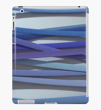 ribbon paper background blue iPad Case/Skin
