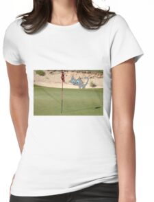 Golfing Kitty Womens Fitted T-Shirt