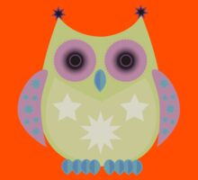 Star Owl - Green Purple Blue Kids Clothes