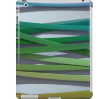 ribbon paper background rainbow iPad Case/Skin