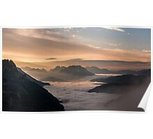 Valley of clouds Poster