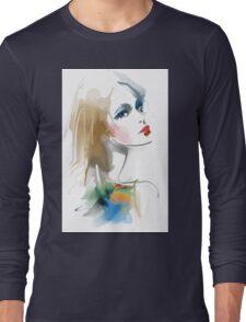 Fashion portrait Long Sleeve T-Shirt