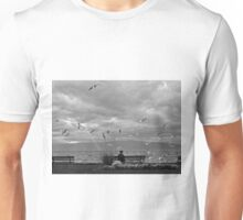 The game of pigeons. Unisex T-Shirt