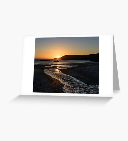 Sunset over Ownahincha beach, Rosscarbery, County Cork, Ireland Greeting Card