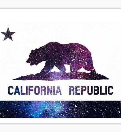 galaxy california flag  Sticker
