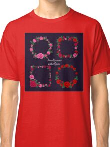 Frames and Tags with Roses Classic T-Shirt