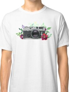 Watercolor Floral Camera #stickers Classic T-Shirt