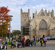 Exeter Cathedral. Devon Uk by lynn carter