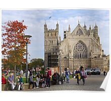 Exeter Cathedral. Devon Uk Poster