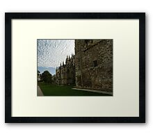 Strong Walls of Exeter Cathedral.......Devon uk Framed Print