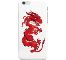 Red Dragon on White iPhone Case/Skin