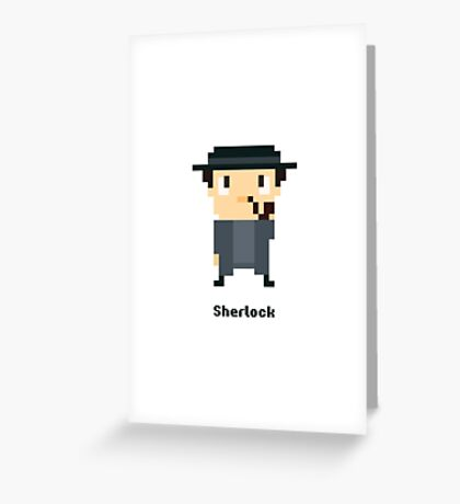 Sherlock Pixel Greeting Card