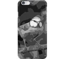 "Birds story, "" fawn paint Picasso ! "" 24 (n&b) (h) the Blue Tit - Olao-Olavia by Okaio Créations  iPhone Case/Skin"