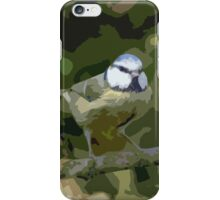"Birds story, "" fawn paint Picasso ! "" 24 (c) (h) the Blue Tit - Olao-Olavia by Okaio Créations  iPhone Case/Skin"