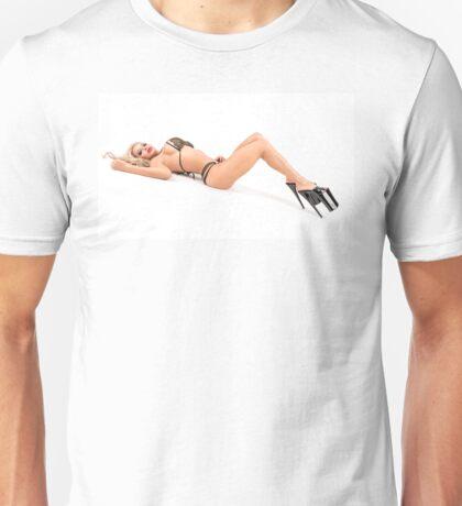 """Modern Pinup Art """"Killer Heels"""" #1  Unisex T-Shirt"""