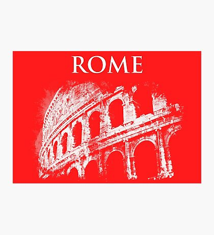 Rome - Colosseum in White Photographic Print