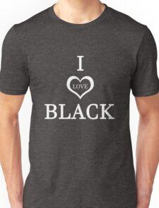 Funny Humor I Love Black Joke Graphic Novelty Unisex T-Shirt
