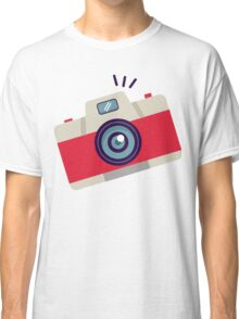 Red Instant Camera Illustration #stickers Classic T-Shirt