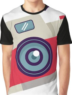 Red Instant Camera Illustration #stickers Graphic T-Shirt