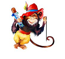 funny monkey Photographic Print