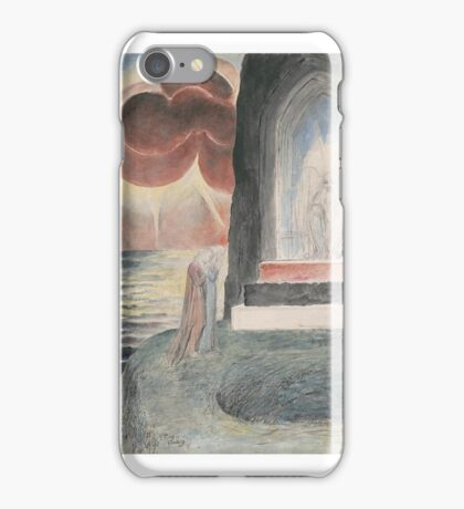 William Blake    Dante and Virgil Approaching the Angel Who Guards the Entrance of Purgatory iPhone Case/Skin